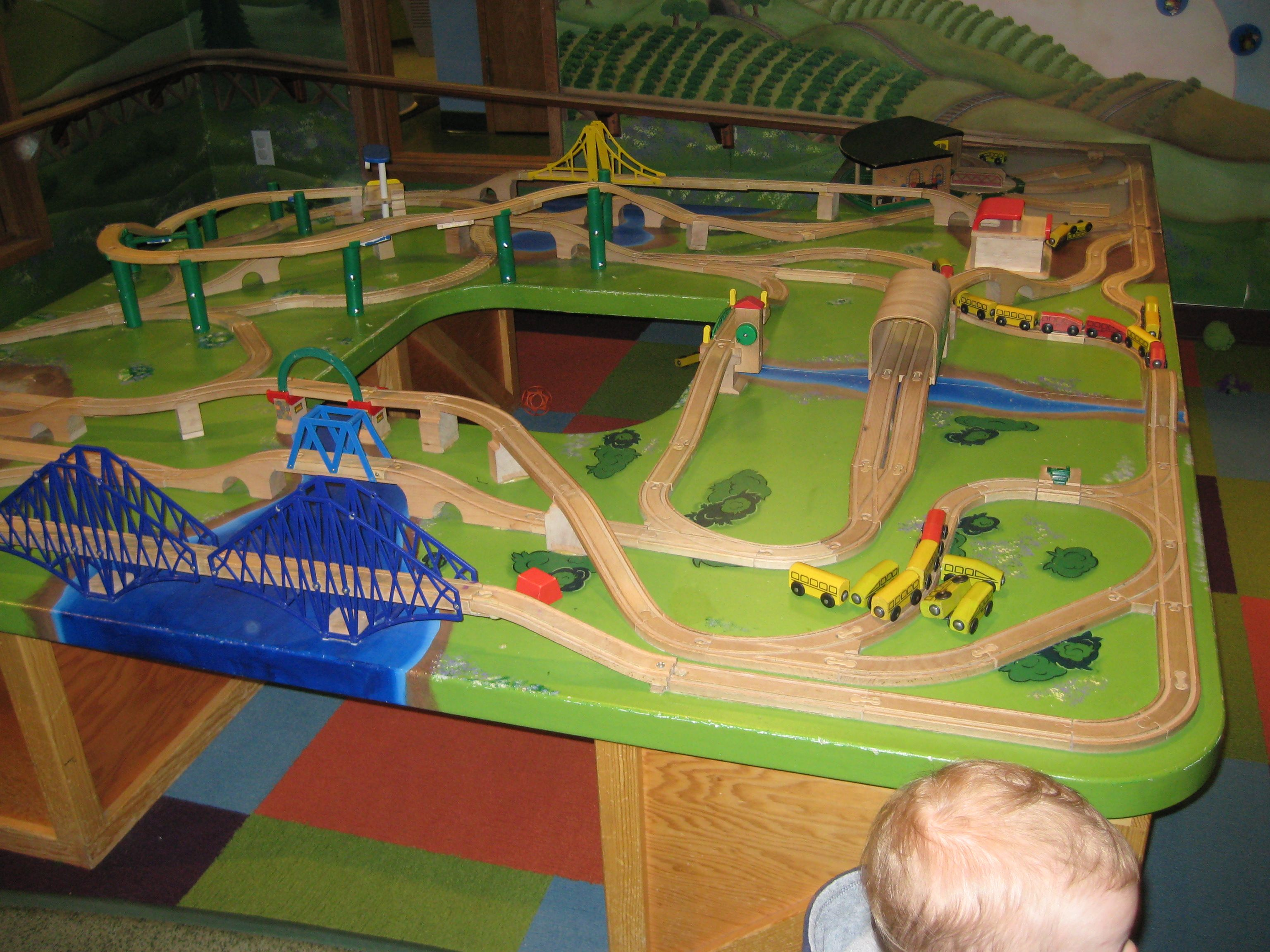 They Have A Big Train Table Set Upu2026 U2026 And ...